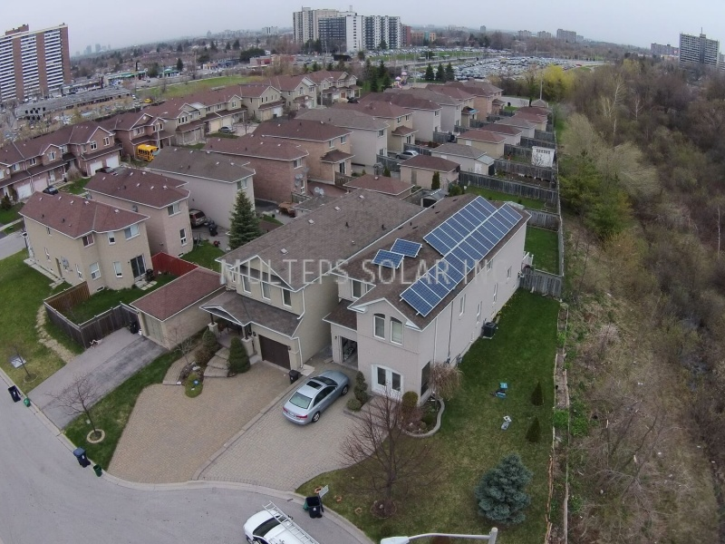 Residential Solar Panel Installation in Scarborough Bridlegrove Drive