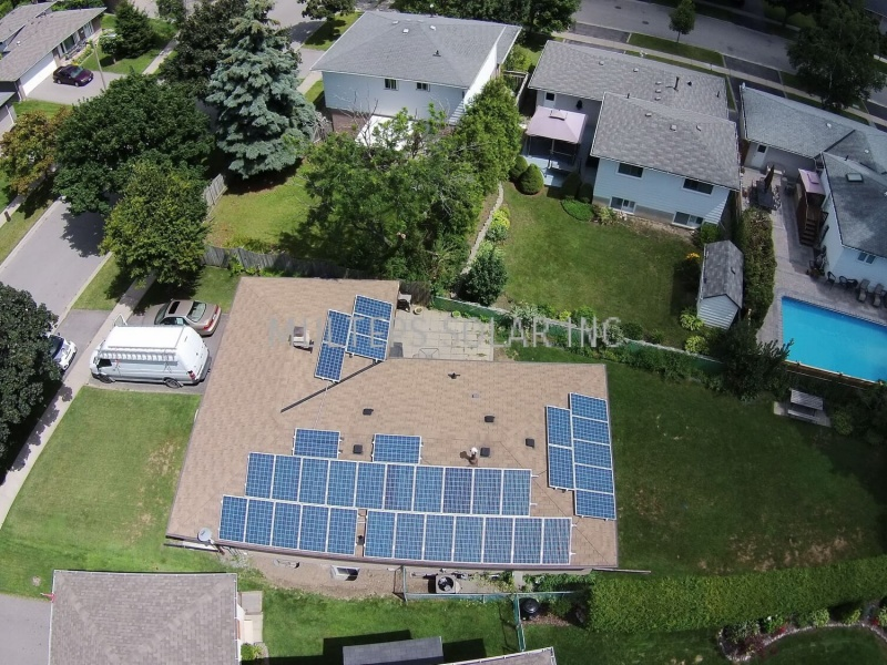 Residential Solar Panel Installation in Scarborough Clappison Boulevard